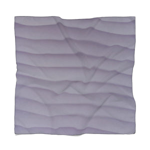 Purple Wave Poly Scarf