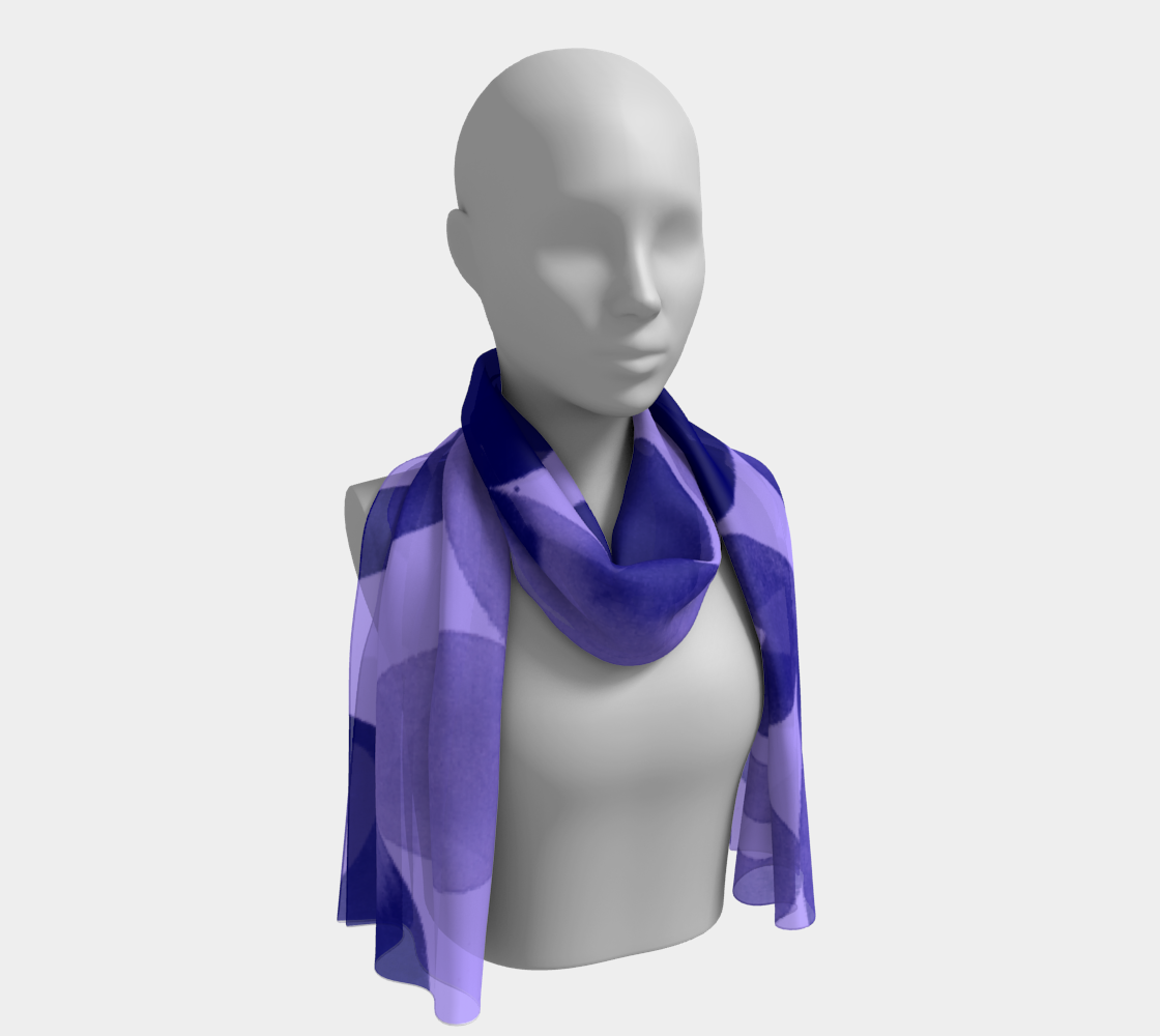 River Pebbles Long Scarf Purple