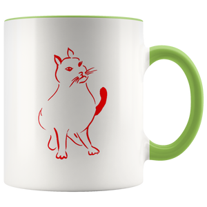 Red Cat Accent Mug