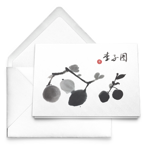 Plum Greeting Cards