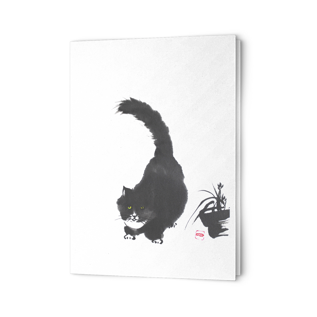 Fluffy Cat Greeting Cards