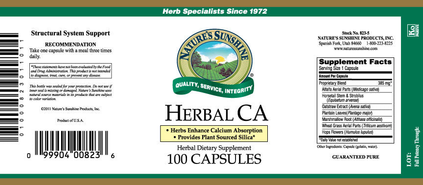 Nature's Sunshine CA, Herbal (100 caps) - Nature's Best Health Store