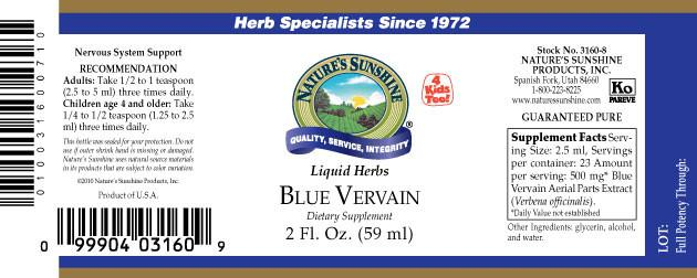 Nature's Sunshine Blue Vervain (2 fl. oz.) - Nature's Best Health Store