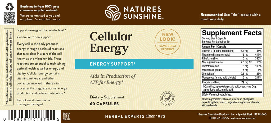 Nature's Sunshine Cellular Energy (60 caps) - Nature's Best Health Store