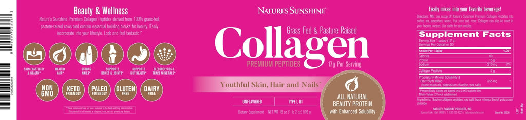 Nature's Sunshine Collagen (18 oz.) (30 Servings) - Nature's Best Health Store