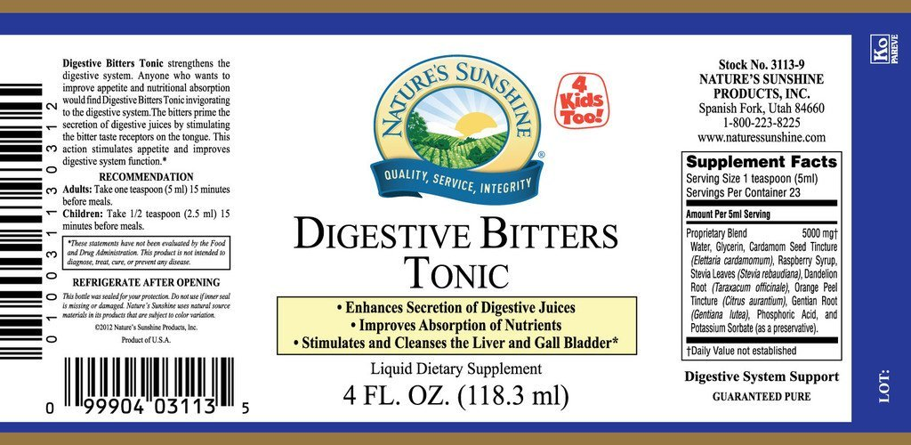 Nature's Sunshine Digestive Bitters Tonic (4 fl. oz.) - Nature's Best Health Store