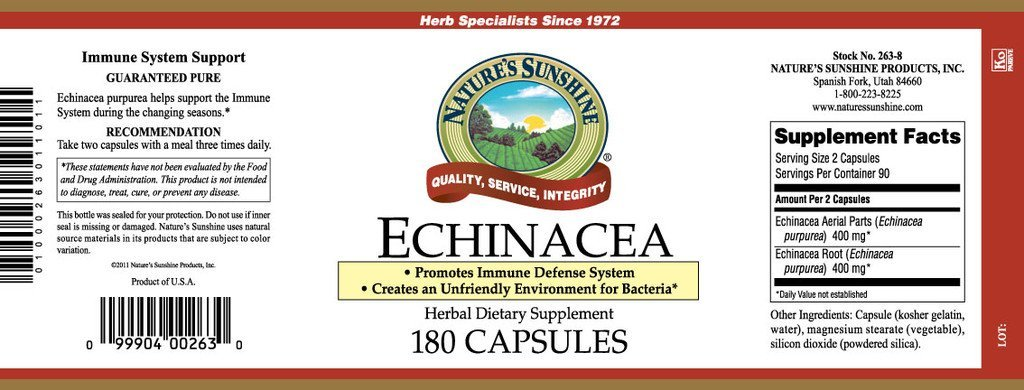 Nature's Sunshine Echinacea Purpurea (180 caps) - Nature's Best Health Store