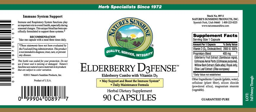 Nature's Sunshine Elderberry D3fense (90 capsules) - Nature's Best Health Store
