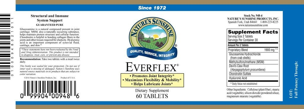 Nature's Sunshine EverFlex® w/Hyaluronic Acid (60 tabs) - Nature's Best Health Store