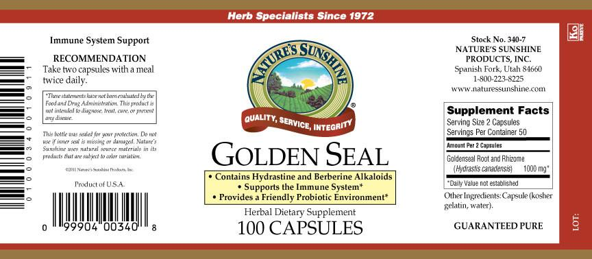Nature's Sunshine Golden Seal (100 caps) - Nature's Best Health Store