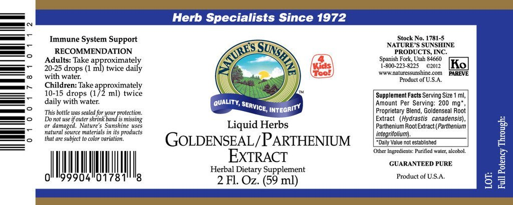 Nature's Sunshine Golden Seal/Parthenium Extract (2 fl. oz.) - Nature's Best Health Store