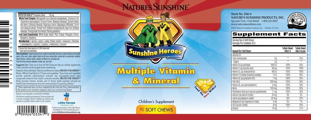 Nature's Sunshine Heroes Multiple Vitamin & Mineral (90 Soft chews) - Nature's Best Health Store