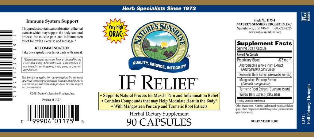 Nature's Sunshine IF Relief (90 caps) - Nature's Best Health Store