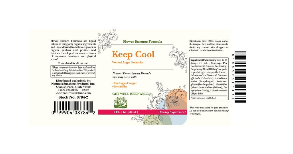 Nature's Sunshine Keep Cool (Vented Anger Formula) (2 fl oz) - Nature's Best Health Store