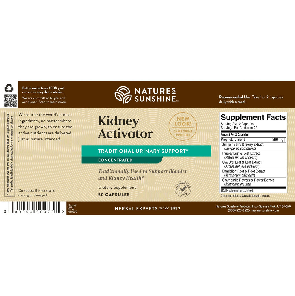 Nature's Sunshine Kidney Activator ATC Conc. (50 caps) - Nature's Best Health Store
