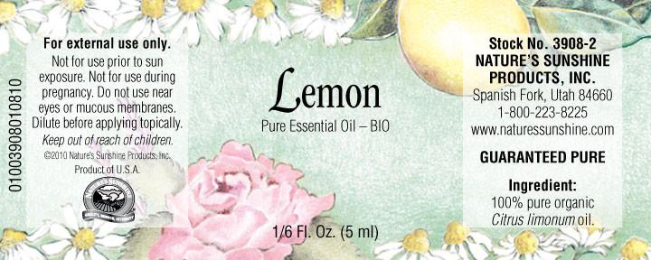 Nature's Sunshine Lemon BIO (5 ml) - Nature's Best Health Store