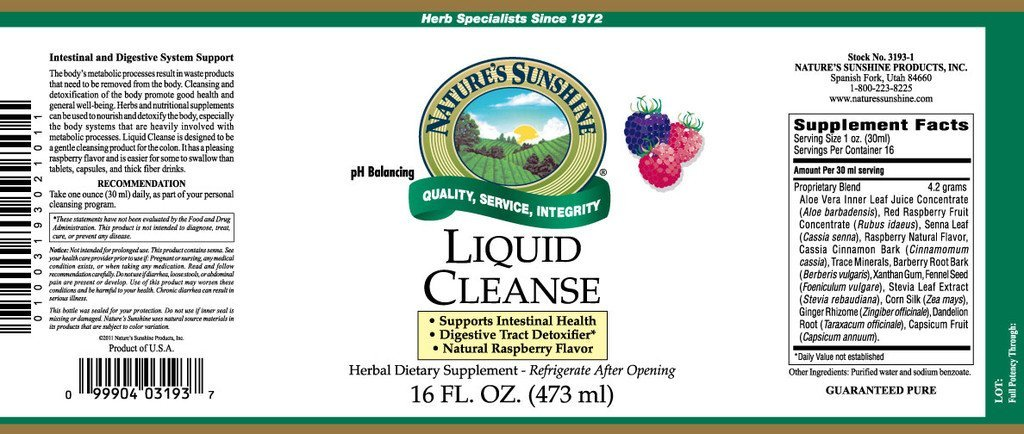 Nature's Sunshine Liquid Cleanse (16 fl. oz.) - Nature's Best Health Store