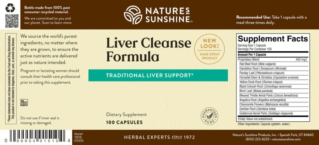 Nature's Sunshine Liver Cleanse Formula (100 caps) - Nature's Best Health Store