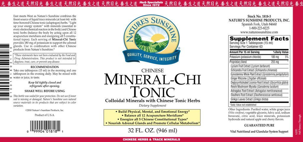 Nature's Sunshine Mineral-Chi Tonic, Chinese (32 fl. oz.) - Nature's Best Health Store