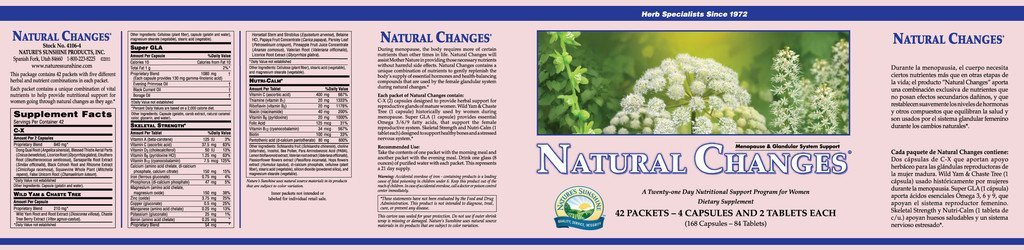 Nature's Sunshine Natural Changes® (42 packets) - Nature's Best Health Store
