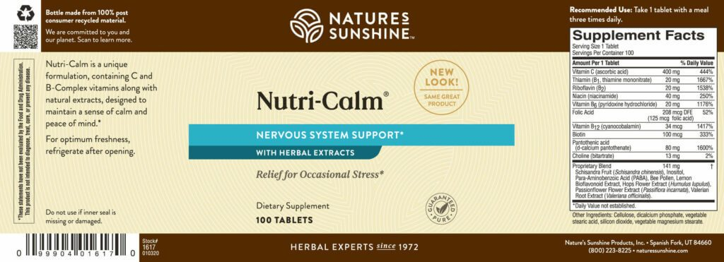 Nature's Sunshine Nutri-Calm (100 tabs) - Nature's Best Health Store