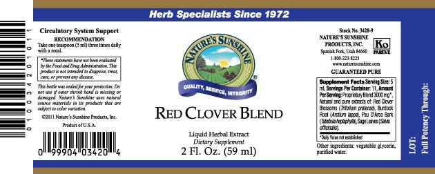 Nature's Sunshine Red Clover Blend (2 fl. oz.) - Nature's Best Health Store