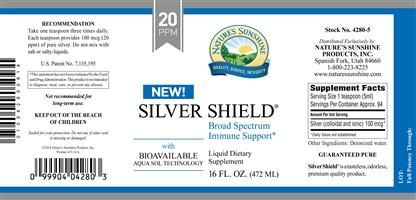 Nature's Sunshine Silver Shield w/Aqua Sol (20 ppm) (16 fl. oz.) - Nature's Best Health Store