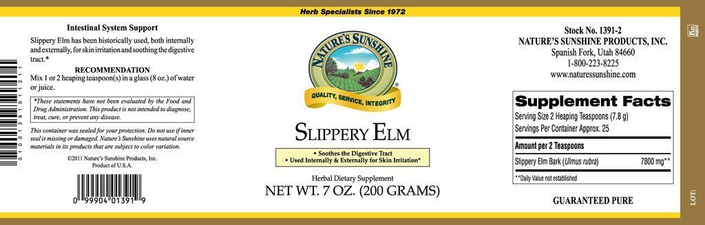 Nature's Sunshine Slippery Elm (7 oz.) - Nature's Best Health Store