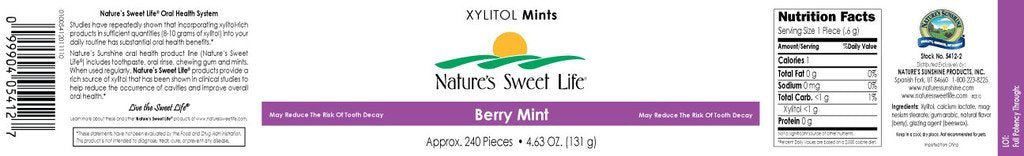 Nature's Sunshine Xylitol Mints (Berry) (240) - Nature's Best Health Store