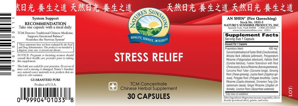 Stress Relief TCM Conc. (30 caps) - Nature's Best Health Store
