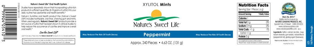 Xylitol Mints (Peppermint) (240) - Nature's Best Health Store