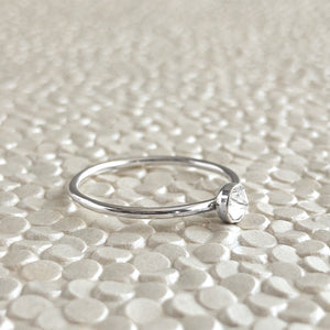 April Birthstone Gemstone Stacking Ring available at Micky Chase Jewelry