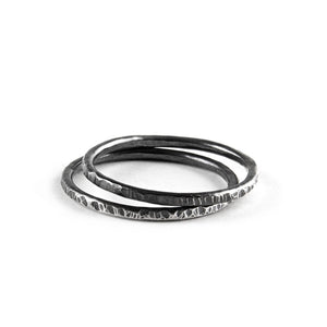 Audrey Textured Stacking Ring available at Micky Chase Jewelry