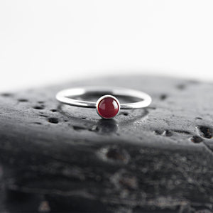 Catalina Carnelian Gemstone Stacking Ring available at Micky Chase Jewelry