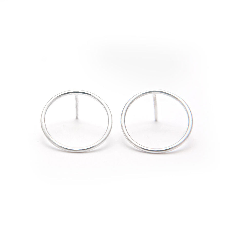 Chloe Hoop Silver Earrings available at Micky Chase Jewelry