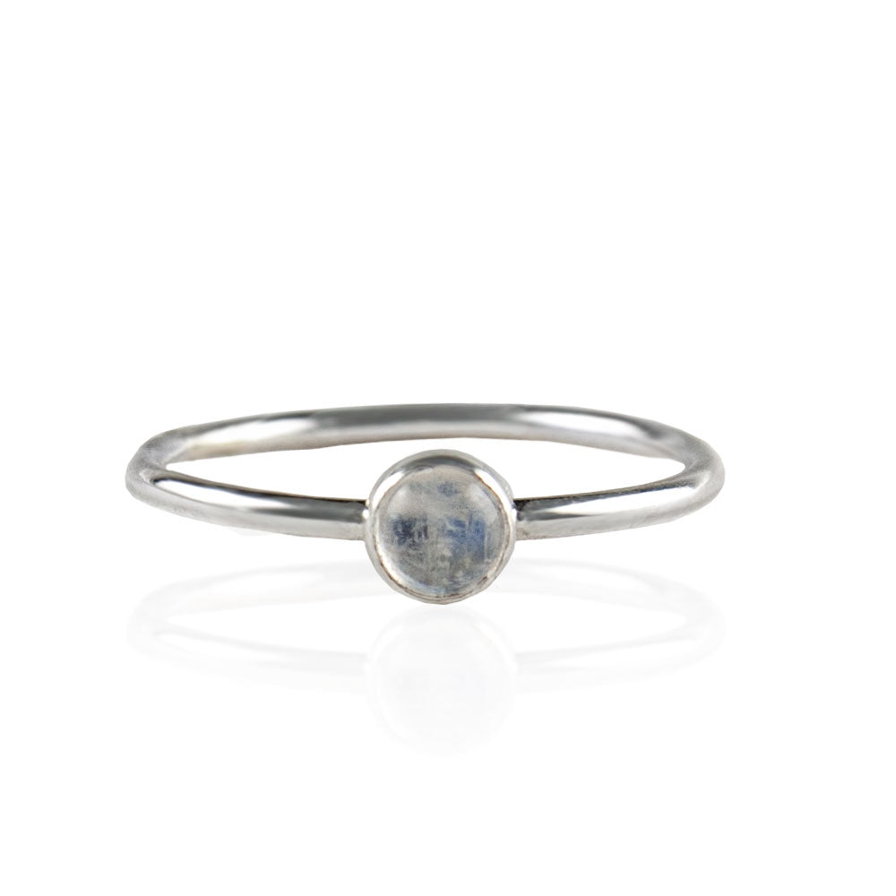 Clarisa Moonstone Stacking Ring available at Micky Chase Jewelry