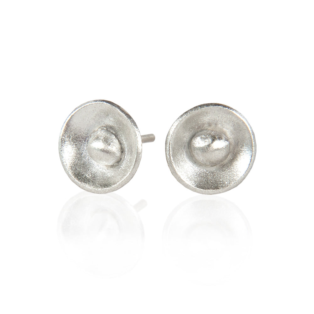 Deliah Sterling Silver Round Stud Earrings available at Micky Chase Jewelry