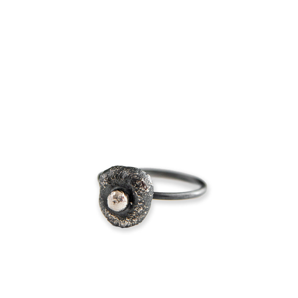 Erosion Textured Stacking Ring