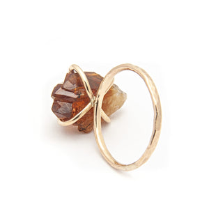 Flora Citrine November Birthstone Ring available at Micky Chase Jewelry