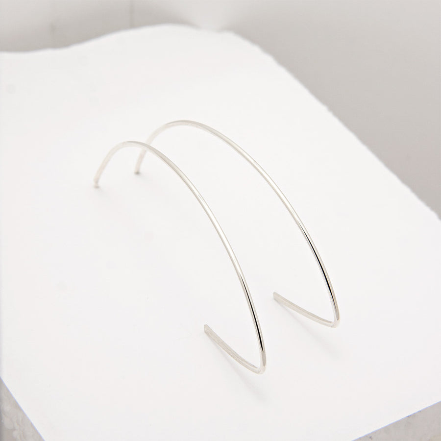 Gabriella Sterling Silver Hoop Earrings available at Micky Chase Jewelry