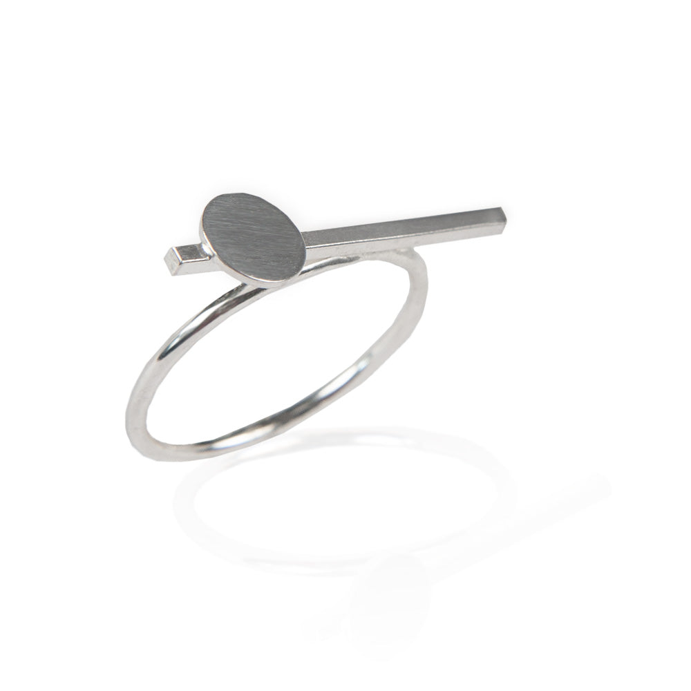 Isabella Silver Stacking Ring available at Micky Chase Jewelry