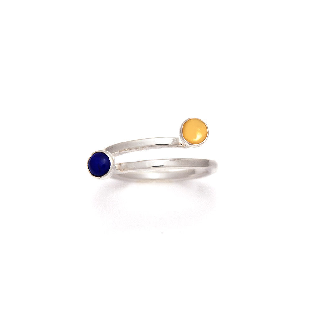 Martine Dual Birthstone Ring available at Micky Chase Jewelry