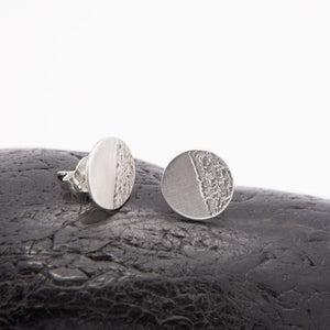 Maya Round Silver Stud Earrings available at Micky Chase Jewelry