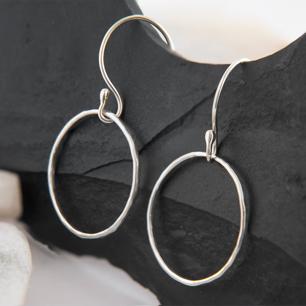 Tara Hoop Earrings in Sterling Silver