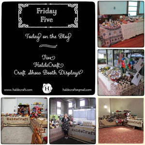 Five HaldeCraft craft show booth displays