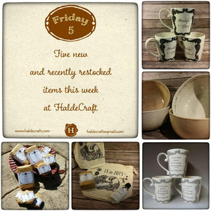 Five recently restocked and new items at HaldeCraft