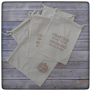 """Crafting Since Birth"" project bag"