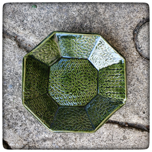 Cable Stitch Dish (small octagonal)