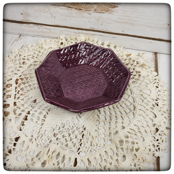 Knit Stitch Dish (small octagonal)