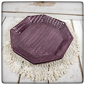 Knit Stitch Dish (large octagonal)